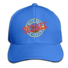 Recall Blue Bell Ice Cream Snapback Peaked Cap Casquette Hat Unisex RoyalBlue One Size -- Awesome products selected by Anna Churchill