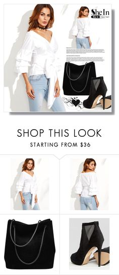 """""""Shein!"""" by togetherforever15 ❤ liked on Polyvore featuring WithChic, Gucci and ALDO"""