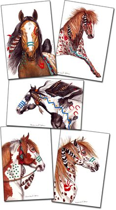 HORSE GREETING CARD SETS EXCLUSIVELY FROM DUNLIGHT STUDIO from my original equine watercolor paintings