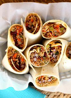 Red Bean and Rice Burritos