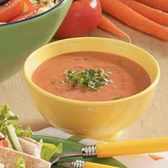 Basil Tomato Soup - This is by far the best and the easiest recipe I have found for tomato basil soup.