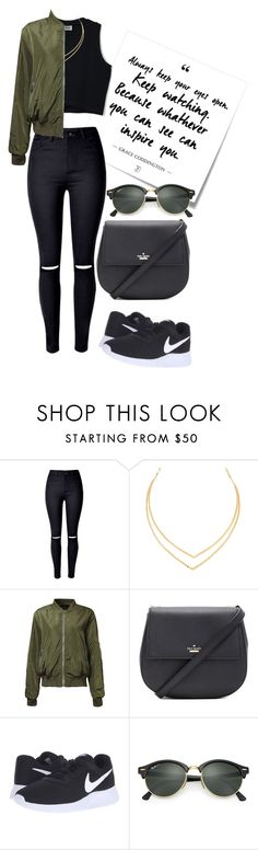 """I love this style"" by nicole-wu03 ❤ liked on Polyvore featuring Post-It, Lana, Kate Spade, NIKE, Ray-Ban and plus size clothing"