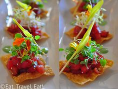 Tuna tar tare ...great hors d'oeuvre for a wedding