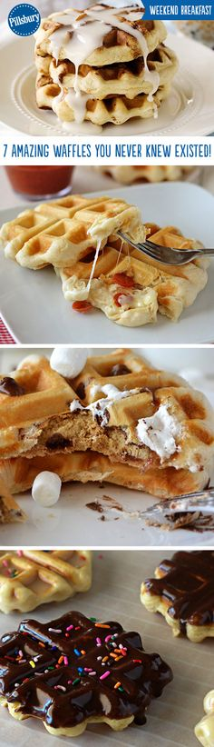 Everyone loves waffles especially when they come in fun recipe twists! From doughnuts to pizza to s'mores these seven waffle recipes are exactly what you never knew you needed. These easy hacks on biscuits will have you impressing all your friends at brunch and your family at dinner.