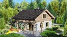 Zdjęcie projektu Dom przy Imbirowej KRK1240 Tiny House, Gazebo, Shed, New Homes, Outdoor Structures, House Design, Cabin, Architecture, House Styles