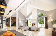 Rezydencja Parkowa 3 on Behance Precast Concrete, Concrete Walls, Home Design Floor Plans, My House Plans, Planer, Luxury Homes, Cool Designs, Construction, House Design
