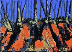 """""""September's Symphony"""" abstract acylic landscape by Donna """"Blacky"""" Blackhall 6x8in $60"""