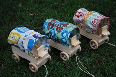 Woodsy Owl Wooden Covered Wagon Toy