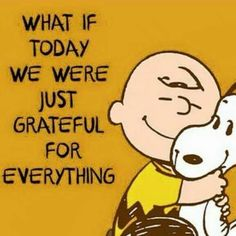 Think every single day what you're grateful for and record it on paper!