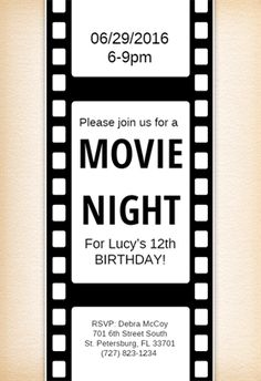 Hollywood shaker movie party invitations to get your party shaking hollywood shaker movie party invitations to get your party shaking sweet 16 pinterest invitations movies and party invitations stopboris Image collections