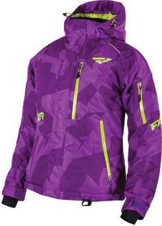 FXR Racing - 2015 Snowmobile Apparel - Women's Fresh Jacket - Purple