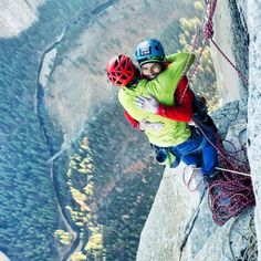 Historic moment as Tommy Caldwell and Kevin Jorgeson complete the first free ascent of the Dawn Wall on world-famous El Capitan in Yosemite Valley!