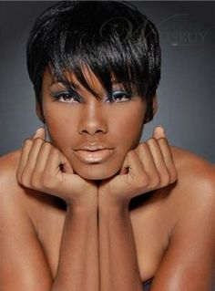 Simple Smart Fascinating Short Straight 100% Human Hair Full Lace Wigs