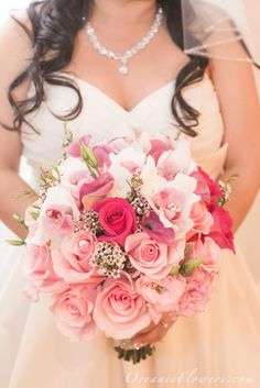 Pink and White Bridal Bouquet.  Flowers of Charlotte loves this!   Find us at www.charlotteweddingflorsist.com for more information on weddings and events in Charlotte, NC