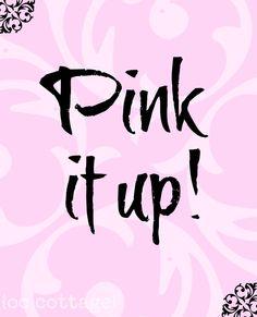 yes!  #pinklove #pinkperfection #perfectlypink #pinkohmy #dreamypink #pinknation #needpink #prettypink