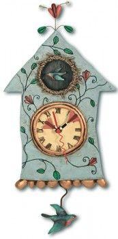 Allen Designs Fly Bird Pendulum Clock