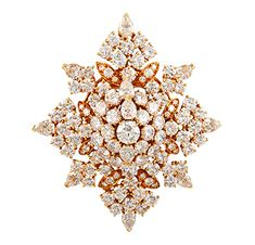FD Gallery | A Diamond and Gold Snowflake Brooch of 20.00 carats, by Van Cleef & Arpels