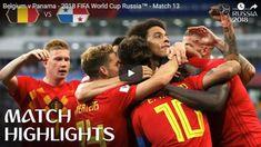 Belgium vs Panama 3-0 Highlights 18 June 2018 FIFA World Cup Russia 2018. World Cup Russia 2018, World Cup 2018, Fifa World Cup, Visit Belgium, Match Highlights, Man United, Trending Videos, Panama, Soccer