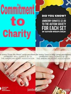 Donating to charity while looking fabulous  JamieBurns.jamberrynails.com
