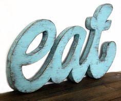EAT - Wooden Kitchen Sign