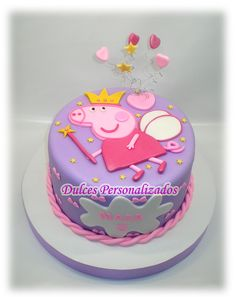 >another peppa pig cake Tortas Peppa Pig, Bolo Da Peppa Pig, Peppa Pig Birthday Cake, Peppa Pig Cakes, 3rd Birthday, Birthday Ideas, Aniversario Peppa Pig, Rodjendanske Torte, Pig Party