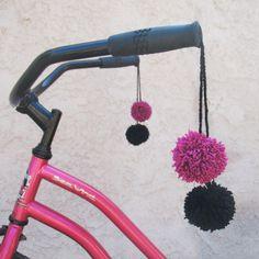 DIY Tutorial: Pom Pom Bike Tassels | Gleeful Things