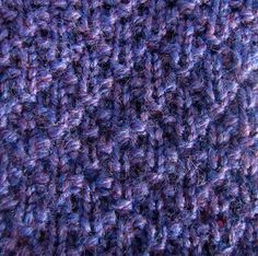 loom knit Seersucker stitch by telaine