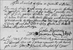 In October 1710, the General Court passed an act reversing the convictions of those for whom their families had pleaded, but Ann Pudeator was not among them.