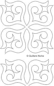 Scrollwork Block quilting design--or appliqué