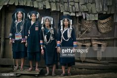 Akha Hill Tribe Women In Traditional Dress Stock Photo | Getty Images