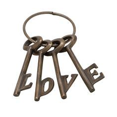 Benzara Bronze Love Key