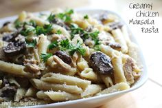Creamy Chicken Marsala Pasta!... It is absolutely delicious!