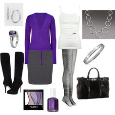 Work Outfit - purple