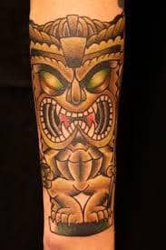 Tiki Tattoo 51 Hawaiian Tattoo Meanings, Polynesian Tattoo Meanings, Polynesian Tattoos Women, Polynesian Tattoo Designs, Tribal Tattoo Designs, Tattoo Designs For Girls, Tattoo Designs And Meanings, Tattoo Sleeve Designs, Tattoos With Meaning