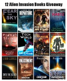 $200 Giveaway: 12 Alien Invasion Paperbacks