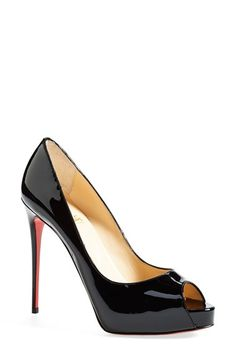 Christian Louboutin 'Prive' Open Toe Pump available at #Nordstrom