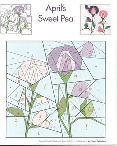 24 flower quilt blocks 11 | Flickr - Photo Sharing!