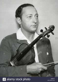 JASCHA HEIFETZ -  US violinist (1901-87) Stock Photo