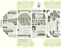 Green tea packaging : Iain McIntosh: Illustrator