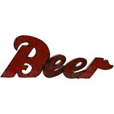Drum Beer Sign