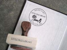 build a little free library and stamp all the books with this stamp :) -- Customizable Artisan Stamp - Little Free Library Library Plan, Library Card, Library Ideas, Little Free Libraries, Little Library, Street Library, Library Humor, Dot Org, Lending Library
