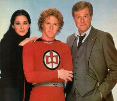 """The cast of """"The Greatest American Hero"""" TV series: Connie Sellecca, William Katt and Robert Culp. Best 80s Tv Shows, Favorite Tv Shows, Connie Sellecca, Hero Tv, Mejores Series Tv, Image Film, Larry Wilcox, Old Shows, Hollywood"""