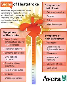 Know the signs of heatstroke, to stop it before it starts!