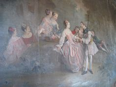 Agneta Wredes drawing room, Åkeshovs slott, Bromma, Johan Pasch, 1740s