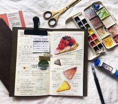 Pastry Art, Travelers Notebook, Moleskine, Journals, Notebooks, Arts And Crafts, Artsy, Bullet Journal, Scrap