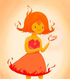 Flame Queen by parogi on DeviantArt Adventure Time Flame Princess, Adventure Time Wiki, Adventure Time Characters, Cartoon Network Adventure Time, Princess Art, Princess Academy, Adventure Time Wallpaper, Princess Bubblegum, Marceline
