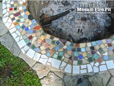 DIY Backyard Mosaic Firepit - I really love my house, but my favorite part has to be my backyard. It's truly my Florida oasis. Before summer kicked into full g…