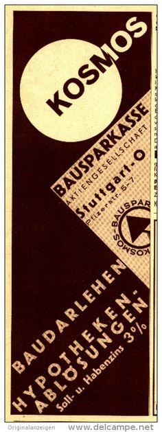 Original-Werbung/Inserat/ Anzeige 1933 - KOSMOS BAUSPARKASSE  - ca. 80 x 220 mm