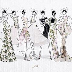 Susu girls in Giambattista Valli FW14 Haute Couture. by JSK http://store.jaesukkim.net