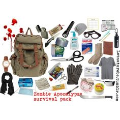 Zombie Apocalypse Survival Pack:Aaside from the machete, it looks good to go for any emergency.